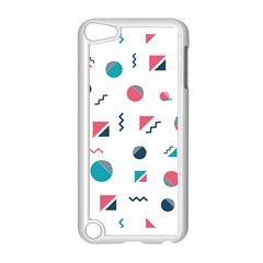 Round Triangle Geometric Pattern Apple Ipod Touch 5 Case (white)