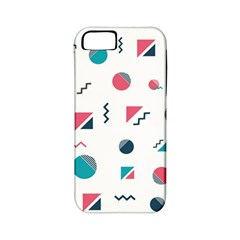 Round Triangle Geometric Pattern Apple Iphone 5 Classic Hardshell Case (pc+silicone)