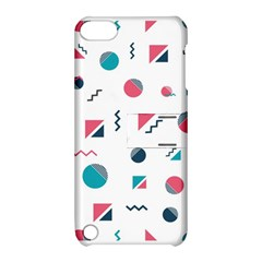 Round Triangle Geometric Pattern Apple Ipod Touch 5 Hardshell Case With Stand