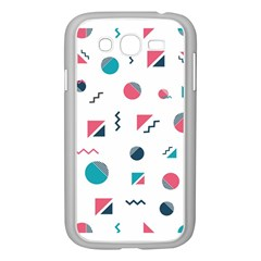 Round Triangle Geometric Pattern Samsung Galaxy Grand Duos I9082 Case (white)