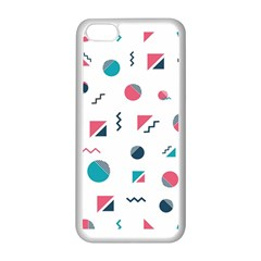 Round Triangle Geometric Pattern Apple Iphone 5c Seamless Case (white)