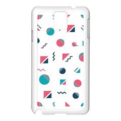 Round Triangle Geometric Pattern Samsung Galaxy Note 3 N9005 Case (white)