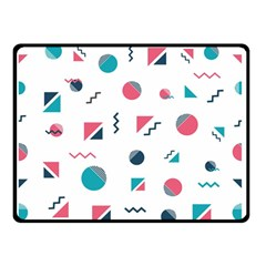 Round Triangle Geometric Pattern Double Sided Fleece Blanket (small)