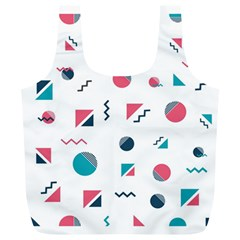 Round Triangle Geometric Pattern Full Print Recycle Bag (xl)