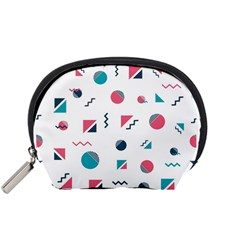Round Triangle Geometric Pattern Accessory Pouch (small) by Alisyart