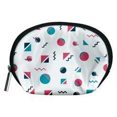 Round Triangle Geometric Pattern Accessory Pouch (medium)