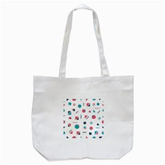 Round Triangle Geometric Pattern Tote Bag (white)