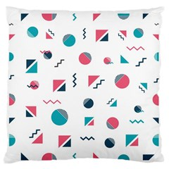 Round Triangle Geometric Pattern Standard Flano Cushion Case (one Side)