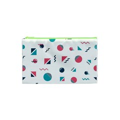 Round Triangle Geometric Pattern Cosmetic Bag (xs)