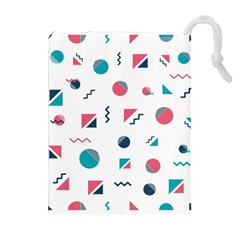 Round Triangle Geometric Pattern Drawstring Pouch (xl)
