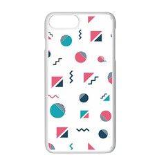 Round Triangle Geometric Pattern Apple Iphone 7 Plus Seamless Case (white)