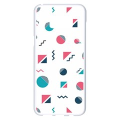 Round Triangle Geometric Pattern Samsung Galaxy S8 Plus White Seamless Case