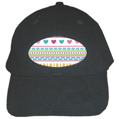 Geometry Line Shape Pattern Black Cap