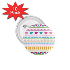 Geometry Line Shape Pattern 1 75  Buttons (10 Pack)