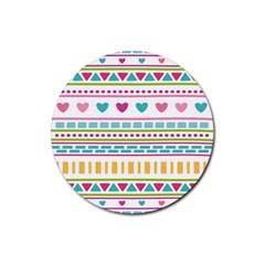 Geometry Line Shape Pattern Rubber Coaster (round)