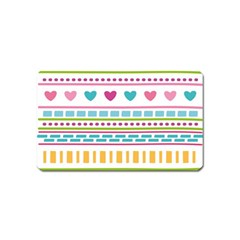 Geometry Line Shape Pattern Magnet (name Card)