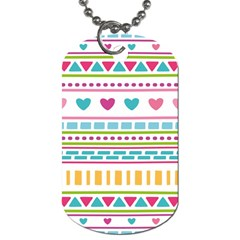 Geometry Line Shape Pattern Dog Tag (one Side)