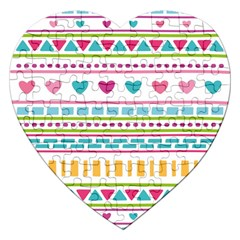 Geometry Line Shape Pattern Jigsaw Puzzle (heart)
