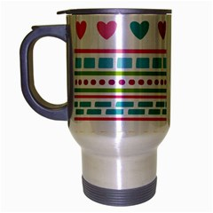 Geometry Line Shape Pattern Travel Mug (silver Gray)