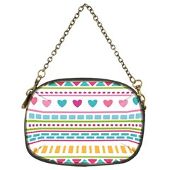 Geometry Line Shape Pattern Chain Purse (two Sides)