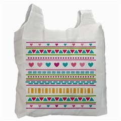 Geometry Line Shape Pattern Recycle Bag (one Side)