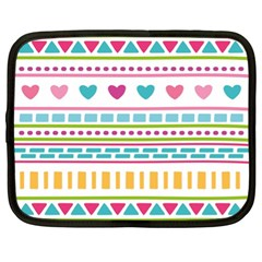 Geometry Line Shape Pattern Netbook Case (xl)