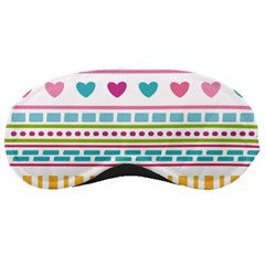 Geometry Line Shape Pattern Sleeping Masks