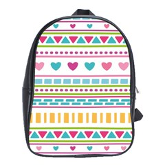 Geometry Line Shape Pattern School Bag (large)