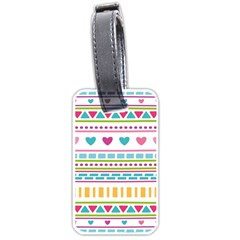 Geometry Line Shape Pattern Luggage Tags (one Side)