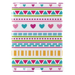 Geometry Line Shape Pattern Apple Ipad 3/4 Hardshell Case (compatible With Smart Cover)