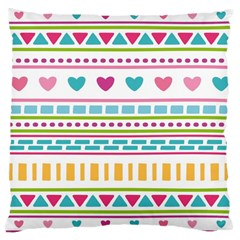 Geometry Line Shape Pattern Large Cushion Case (two Sides)
