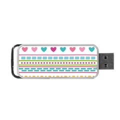 Geometry Line Shape Pattern Portable Usb Flash (two Sides)