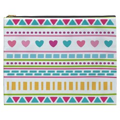 Geometry Line Shape Pattern Cosmetic Bag (xxxl)