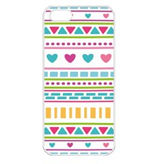 Geometry Line Shape Pattern Apple Iphone 5 Seamless Case (white)