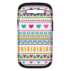 Geometry Line Shape Pattern Samsung Galaxy S Iii Hardshell Case (pc+silicone)