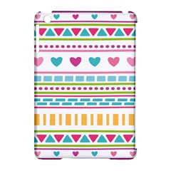 Geometry Line Shape Pattern Apple Ipad Mini Hardshell Case (compatible With Smart Cover)