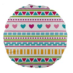Geometry Line Shape Pattern Large 18  Premium Round Cushions