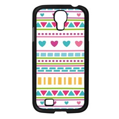Geometry Line Shape Pattern Samsung Galaxy S4 I9500/ I9505 Case (black)