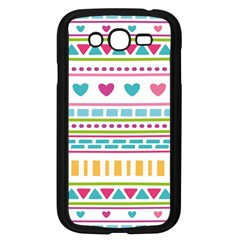 Geometry Line Shape Pattern Samsung Galaxy Grand Duos I9082 Case (black)