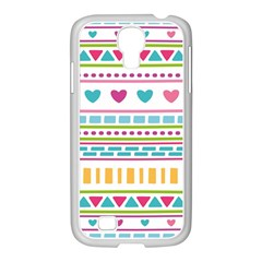 Geometry Line Shape Pattern Samsung Galaxy S4 I9500/ I9505 Case (white)