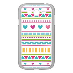 Geometry Line Shape Pattern Samsung Galaxy Grand Duos I9082 Case (white)