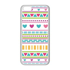 Geometry Line Shape Pattern Apple Iphone 5c Seamless Case (white)