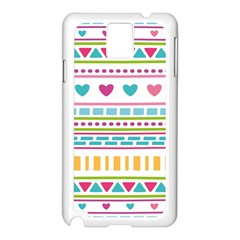 Geometry Line Shape Pattern Samsung Galaxy Note 3 N9005 Case (white)