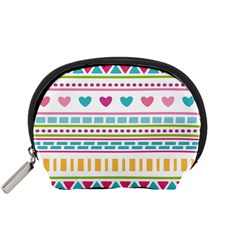 Geometry Line Shape Pattern Accessory Pouch (small)
