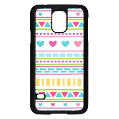 Geometry Line Shape Pattern Samsung Galaxy S5 Case (black)