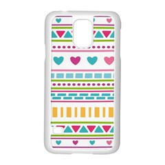 Geometry Line Shape Pattern Samsung Galaxy S5 Case (white)