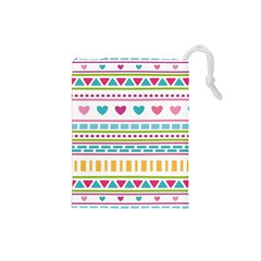 Geometry Line Shape Pattern Drawstring Pouch (small)