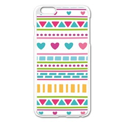 Geometry Line Shape Pattern Apple Iphone 6 Plus/6s Plus Enamel White Case