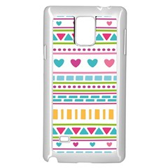 Geometry Line Shape Pattern Samsung Galaxy Note 4 Case (white)