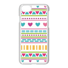 Geometry Line Shape Pattern Apple Iphone 8 Seamless Case (white)
